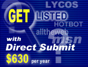 Get Listed with Major Ssearch Engines with Direct Submit